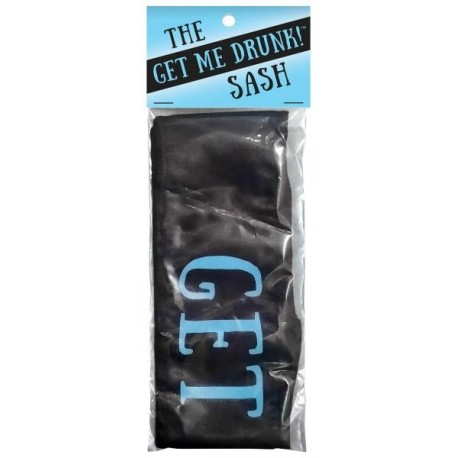 Get me Drunk Sash - Black and Blue
